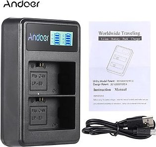 Andoer LP-E6 Rechargeable LED Display Li-ion Battery- Charger Pack 2- USB Cable Kit for Canon EOS 6D 7D 70D 60D 5D Mark   III Mark II Digital SLR Camera