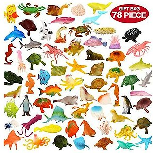 Pack of 200 Pcs - Growing Ocean Sea Animal Assorted Mini  Animal Toy