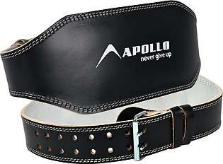 Leather Weight Lifting Belt 6 inch Black