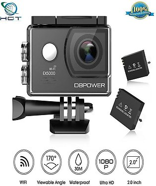 DBPOWER EX5000 2.0inch WIFI 14MP 1080P FHD Waterproof Action Camera (F)