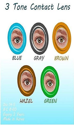 5 Pair Pack Of Fresh Eye'S 3 Tone - Contact Lenses - 5 Different Colors