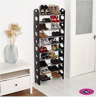 The Drawing Room-Stock able Shoe Rack Shoe Shelf 4 Layers Shoe Stand Best for h…