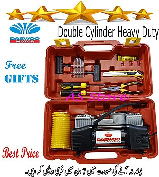 Car Compressor Double Cylinder Portable/12 Volt/Heavy Duty.With Full Puncture R…