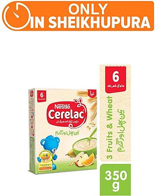 Nestle cerelac (3 fruit) - 350gm - Baby Food (One day delivery in Sheikhupura)