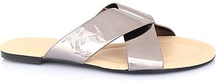 Hush Puppies - SS-SL-0052 - Silver Open Slipper for Women