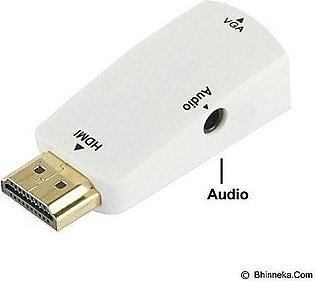 HDMI to VGA Converter Adapter - White
