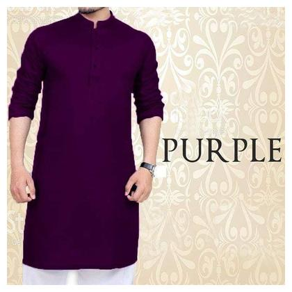 Purple Kurta With Pajama For men
