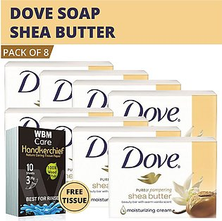 Dove Soap Purely Pampering Shea Beauty Bar with Vanilla Scent-(8 pack) |Made ...