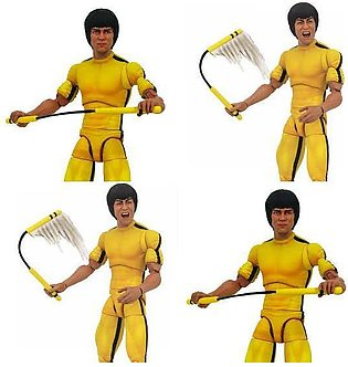 Diamond Select Toys - Bruce Lee Action Figure In Classic Yellow Jumpsuit