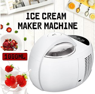 Electric Automatic 1L Fruit Ice Cream Maker Machine Soft & Hard Adjustable Home