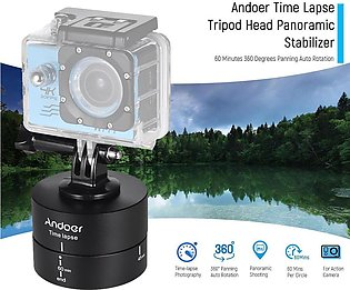 Andoer 60 Minutes 360 Degrees Panning Auto Rotation Time Lapse Tripod Head Pa...