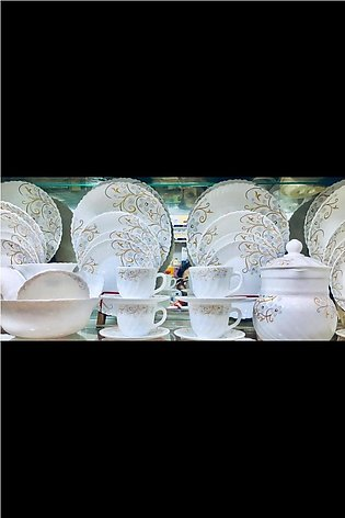 Marble Dinner Set For 8 Persons Service - 72 Pieces
