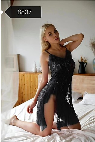 Nighty New Style Short Ladies Night Suit Beautiful Black Colour