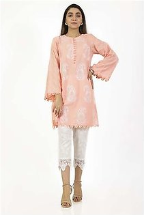 EGO Fall Collection 2019 Mighty Paisley Peach Cotton Kurti For Women