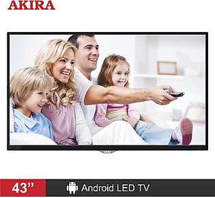 """AKIRA 43MS1308 - 43""""  HD Smart Android LED TV with Built-in Sound Bar - Black"""