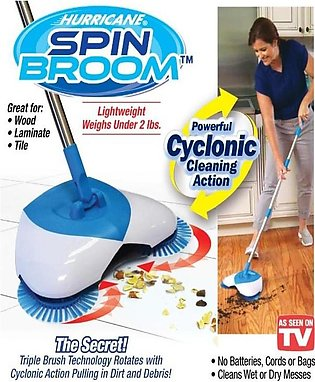 Spin Broom - Blue & White