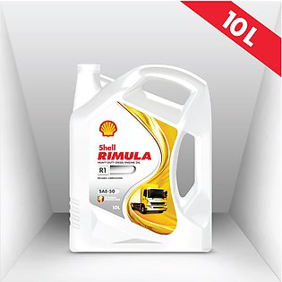 Shell Rimula R1 (SAE-50) 10L, Heavy-duty Diesel Engine Oil, Truck Oil