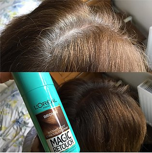 L'Oreal Paris Magic Retouch Instant Root Touch Up Hair Color Spray Brown 75…