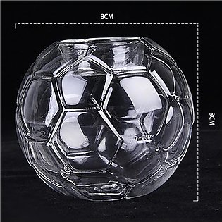Heat-resistant Football Shape Crystal-like Glass Candle Holder Romantic Candl...