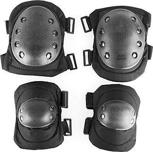 Advanced Taktical Protective Knee Pads and Elbow Pads - Black