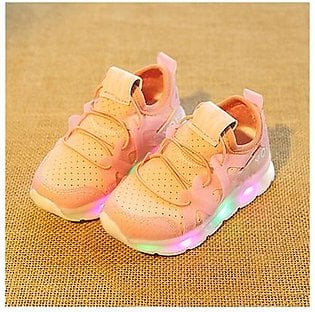 M Spring Led Children Shoes With Light Kids Casual shoes Boys Girls 21-25 Size-pink 23 with Light