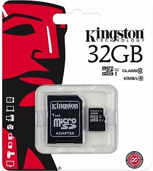 32GB microSDHC Class 10 UHS-I Card with SD Adapter