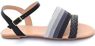 Hush Puppies - SS-SD-0149 - Black Open Sandal for Women