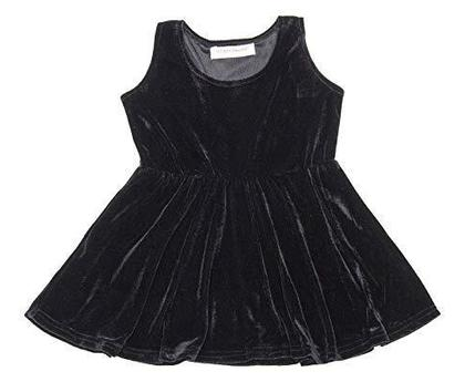 Beautiful Designer Black Color Velvet Frock for Baby (for 1 year baby) only frock