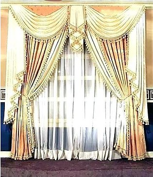 Fancy Cotton Satin Curtain For Home/Office 17