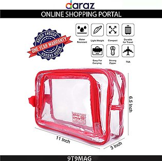 Large Clear Cosmetic Bag  Travel Makeup Bag Pouch Organizer