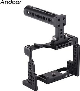 Andoer Camera Cage + Top Handle Kit Video Film Movie Making Stabilizer Aluminum Alloy with Cold Shoe Mount for Sony A7II/A7III/A7SII/A7M3/A7RII/A7RIII Camera