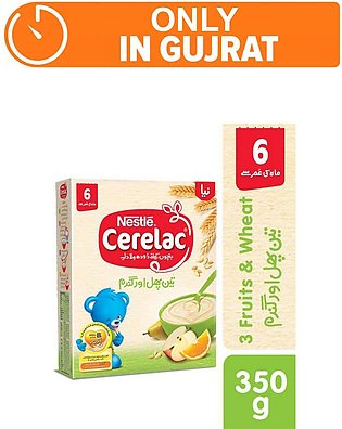 Nestle cerelac (3 fruit) - 350gm - Baby Food (One day delivery in Gujrat)