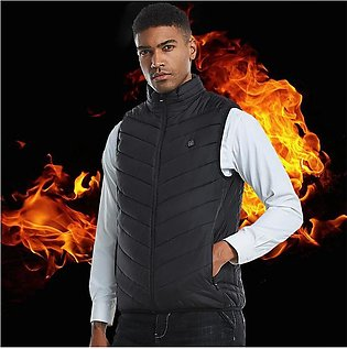 Fashion Men Electric Heated Vest Heating Waistcoat Padded Thermal Warm Outdoor …