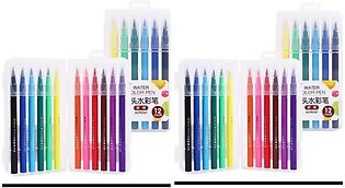 M AND G Pack Of 2 - Soft Brush Tip Water Color Marker 12 each