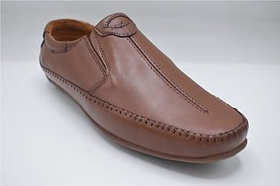 Gents Comfortable Leather Shoes Color Brown Article 7242