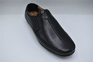 Gents Comfortable Leather Shoes Color Black Article 7242 Category
