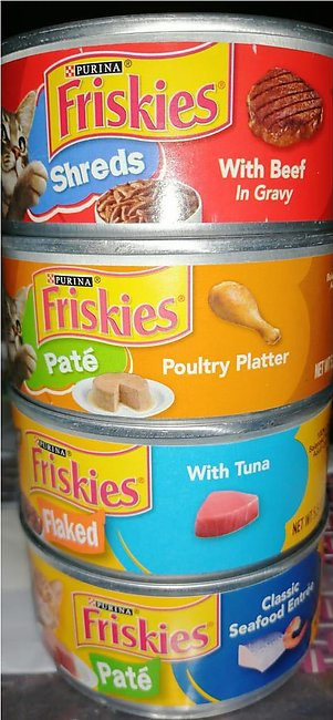 4 X 156 Grams PIECES OF Friskies Cat Food With DIFFERENT FLAVOURS (FRISKIES S...