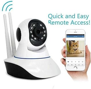 ORIGINAL: Night Vision 360 Rotation WiFi IP Camera - 720p - White