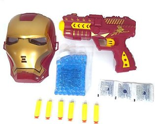 Avengers Iron Man Mask And 2 in 1 shooter