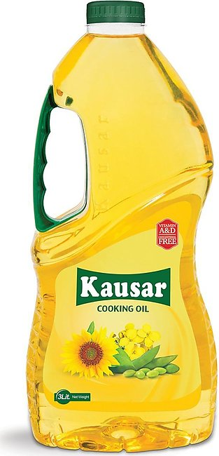 Kausar Cooking Oil - 3Ltr Bottle