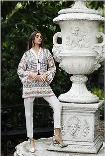 So Kamal Women Summer Collection 2019 Multi 1 PCS Pret - Printed Int:XS Lawn Shirt DPL19-557