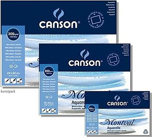 Pack Of 3- Canson Montval Water Color Pad A4, B4 & A3 Size