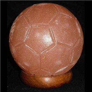 Hand Crafted Color Changing Soccer Foot Ball (Globe Shape) Salt Lamp with LED...