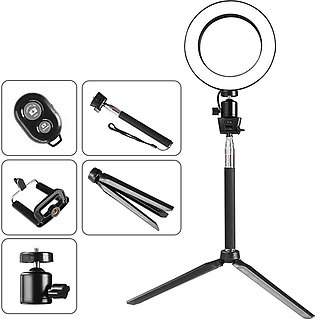 Selfie Lamp LED Ring Light Dimmable Phone Video Lamp With Tripod for Makeup -...