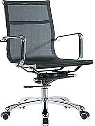 Office Revolving Chair Mesh - Computer Chair - Black