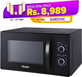 Haier 20Liters - Microwave Oven Solo/HMN/MM720 - Black
