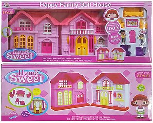 Happy Family Home Sweet Doll House Full Set with New Series & Ultra Cool Styl...