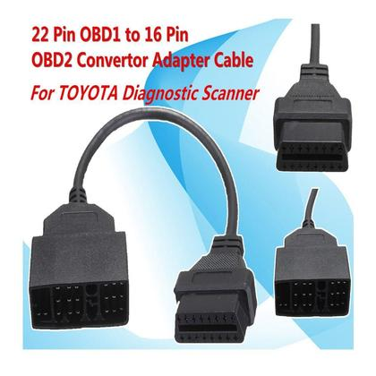 22 Pin OBD1 To 16 Pin OBD2 Convertor Adapter Cable For TOYOTA usb sata cable usb riser card rj45 connector