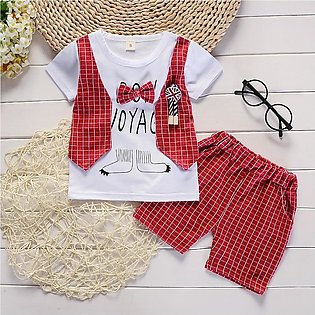 Baby Boy Bow T-shirt Short Pants Outfit Clothes Set