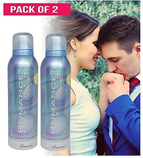 Pack of 2 ROMANCE Imported Perfumed Frangance Deodorant Body Spray for Boys Men Special Gift - 200 ml